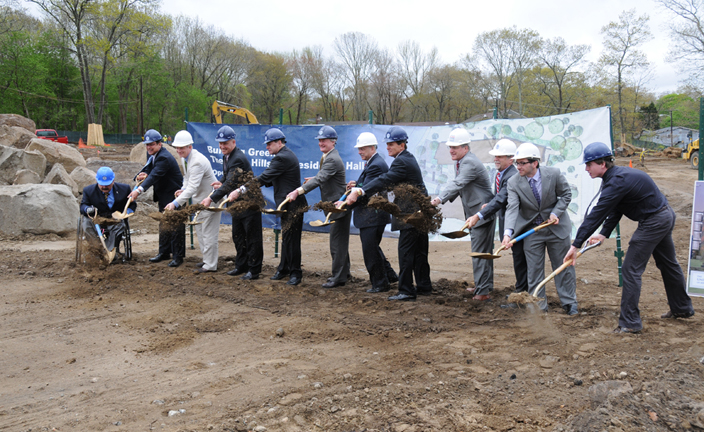 Hillside Residence Hall Breaks Ground