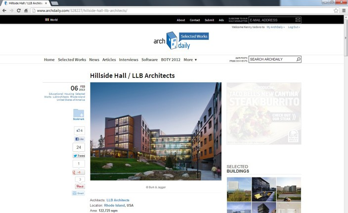 ArchDaily Screenshot Web