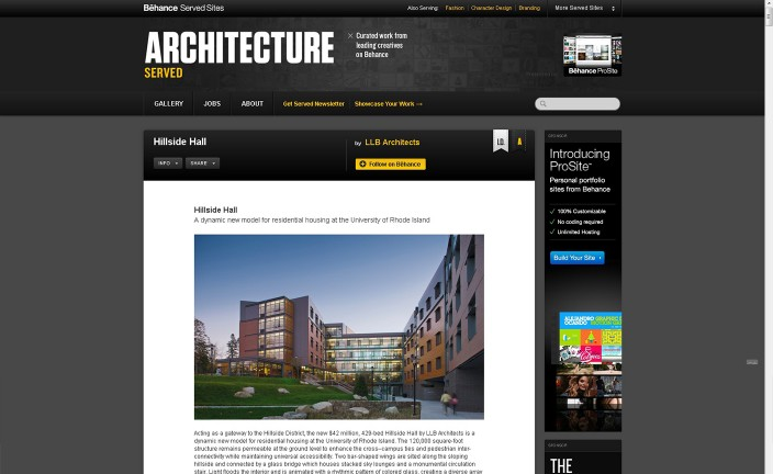 Architecture Served Screenshot Web