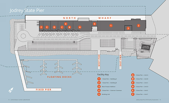 Map of Jodrey Pier