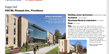 Preview of story on Gaige Hall in Providence Business News