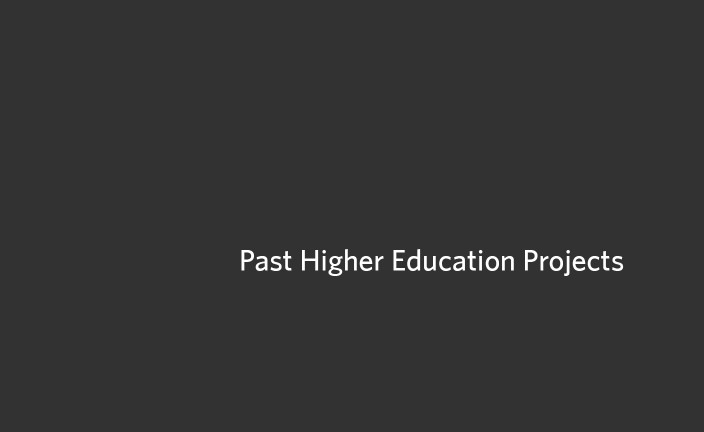 Past Higher Education Projects