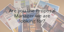 Interested in joining our team as a Proposal Manager?