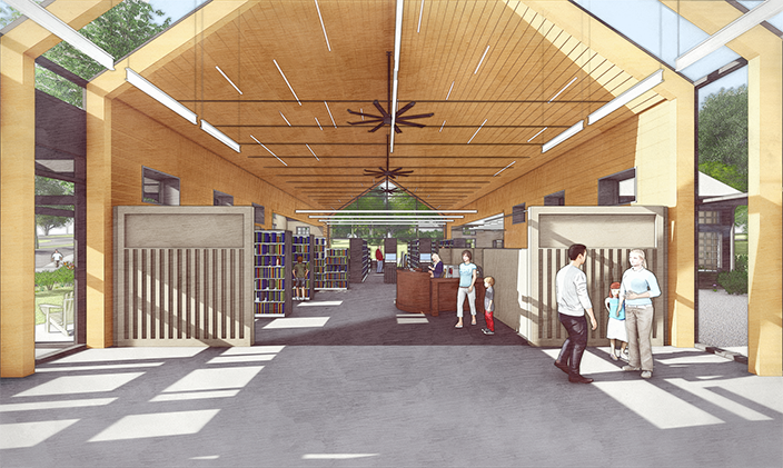Rendering of Chester Library