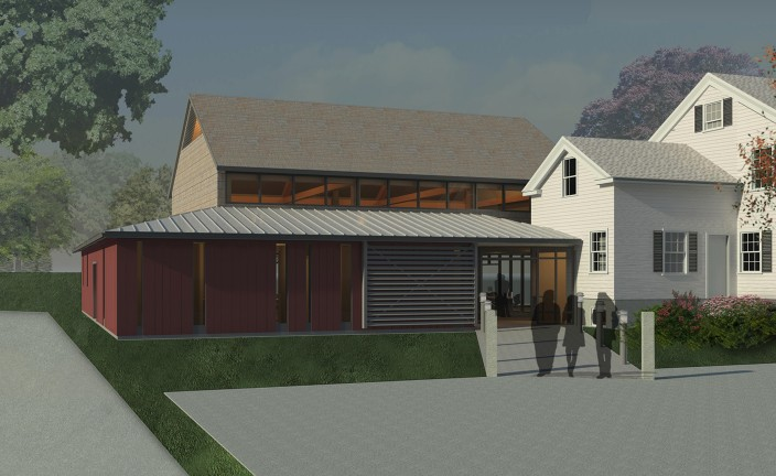 Thayer Homestead - Rendering Front Daytime