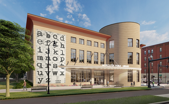 Worcester Public Library rendering