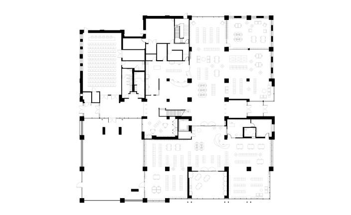 Walpole Public Library First Floor Plan