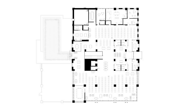 Walpole Public Library Second Floor Plan