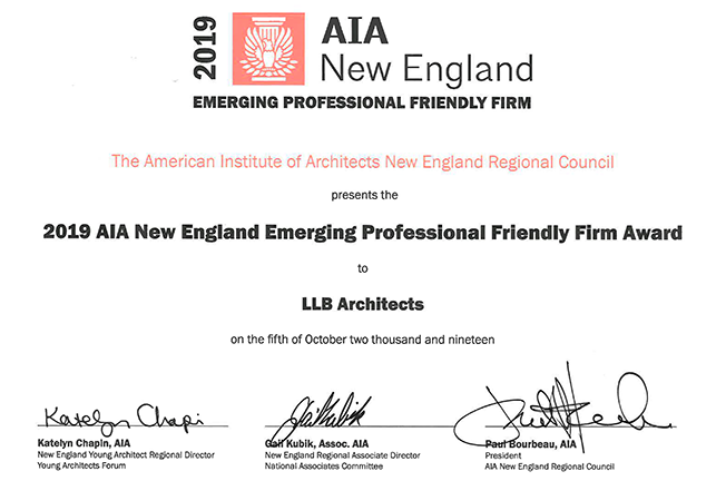AIA New England Emerging Professional Friendly Firm Award