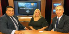 Aimee Lombaardo and Drayton Fair of LLB Architects at Worcester Chamber TV Show