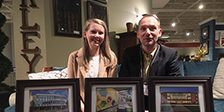 Bethany Burns and Enno Fritsch at RI Monthly Design Awards