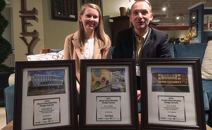 Bethany Burns and Enno Fritsch at Rhode Island Monthly Design Awards