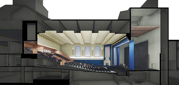 Hope High School Auditorium rendering